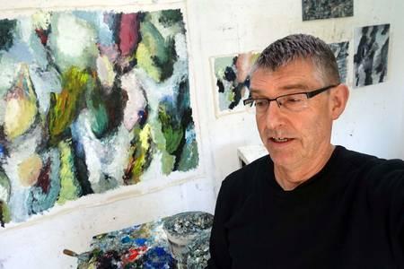 Rudi Weiss im Atelier