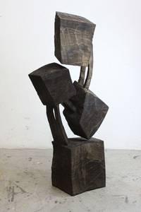 O.T. Holz geschwärzt, 2018, 45x57x22 cm