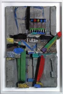 M. Fahl, Figur in Grau I, Materialbild, 2016, 60x40x10 cm