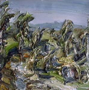 Christopher Lehmpfuhl, Landschaft, Öl/Lwd.