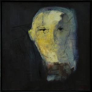 Siiri Spronken, Porträt (en face), Öl/Lwd., 2014