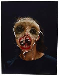 Annegret Soltau, GRIMA-Affe, Fotovernähung, 1990