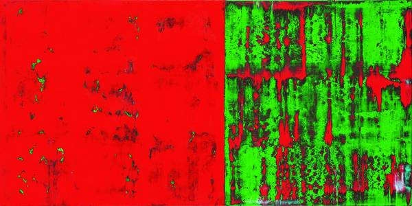 Ohne Titel, D!, Acryl/Lwd., 2012, 70x140 cm