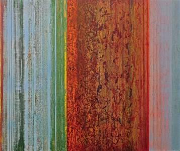 Gerd Winter, Farbstück, MT/Lwd., 2016, 55x65 cm