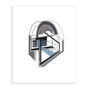 Vertex_gb, Collage/Siebdruck, 2014, 80x70 cm