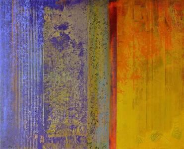 Gerd Winter, Klangstück, MT/Lwd., 2016, 80x100 cm