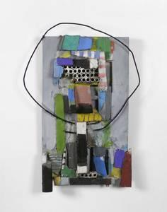 M. Fahl, Kleine Eule, Materialbild, 2005, 60x40x10 cm