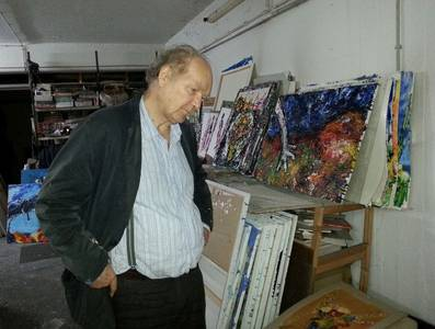 Jörg von Kitta Kittel im Atelier, 2016