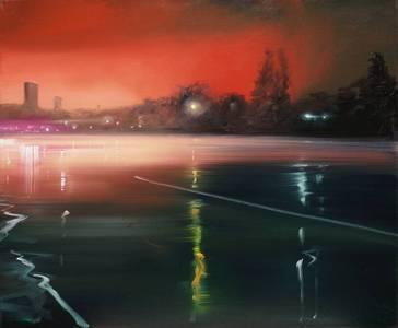 Lichter im Regen, 2013, 50x60 cm
