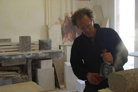 Dieter Kränzlein im Atelier