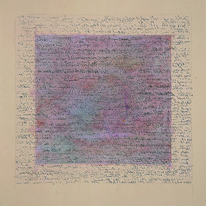 Peter Thoms, O.T., Monotypie/Aquarell, 2001, 50x50 cm, Foto: Ute Döring