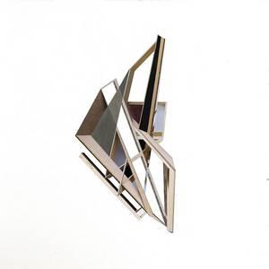 C20/15, Collage, verschiedene Papiere, 2020, 40x40 cm