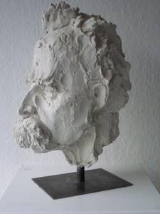 Friedrich Nietzsche, Gips, 2012, H 37,5 cm