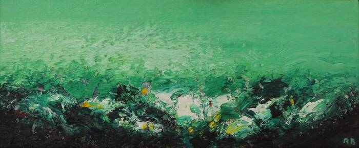 Landschaft, Öl/Lwd., 2016, 29 x 70 cm