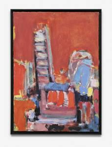 H. Kürschner, Rotes Atelier, Öl/Lwd., 2015, 70x50 cm