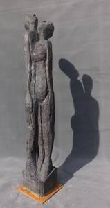 Walter Schembs, Großes Paar, Bronze bemalt, 2016, H 205 cm
