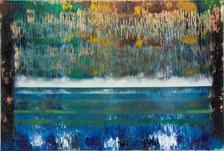 Gerd Winter, Darkness, Mischtechnik/Lwd., 100x150 cm, 2015