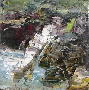 Rudi Weiss, Landschaft, Öl/Leinwand, 2014