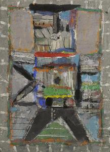 M. Fahl, Geher, Öl/Lwd., 2016, 110x80 cm