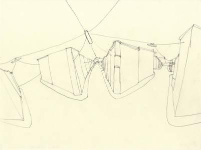 """Barbara Camilla Tucholski, aus der Werkreihe """"Straßen"""", Bleistift, 2013-17, 24x32 cm"""