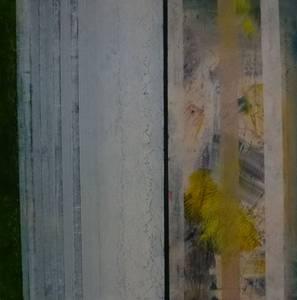 Gerd Winter, Fragmentarisch II, MT/Lwd., 2013/16, 80x80 cm