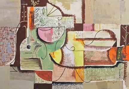 Komposition, Mischtechnik, 1948