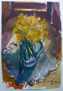 Müller-Linow, Blumenstrauß, Aquarell, 1990, 60x41 cm