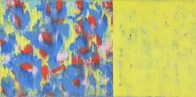 o.T., D8, Acryl/Lwd., 2013, 70x140 cm