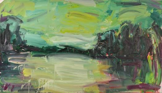 Gabi Streile, Dschungel, Öl/Lwd., 2012, 120x210 cm