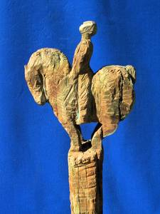 Walter Schembs, Kleiner barocker Reiter, Bronze, H 157 cm