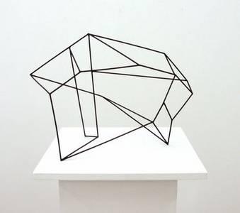 A. Lincke-Zukunft, Überbrückung, Holzstäbe schwarz, 2008