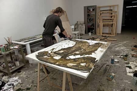Kai Savelsberg im Atelier