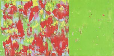 O.T., D5, Acryl/Lwd., 2013, 70x140 cm