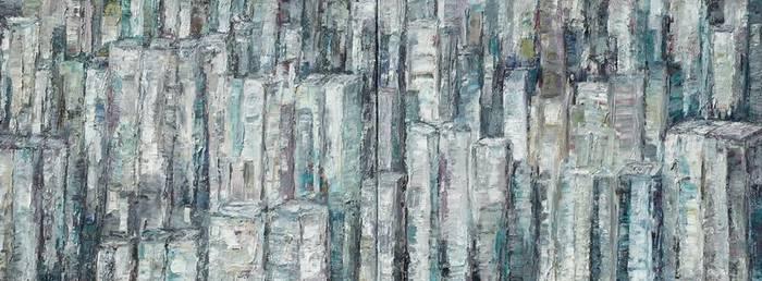 Hong Kong, Öl/Lwd., 2018, 80x200 cm