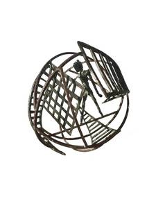 E.R. Nele, Figurenkugel, Stahl/Bronze  geschweißt