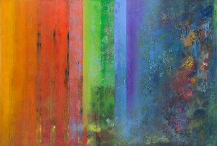 Gerd Winter, Intermezzo Mischtechnik/Lwd., 100x150 cm, 2015