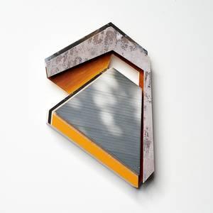 Rib, Objekt, Holz, Farbe, Klebefolie, Print, 2013, 47x32x6 cm