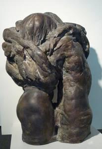 Grzimek, Torso Liebespaar, Bronze, 1979, H 68 cm