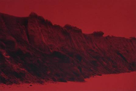Rotes Riff, Jacquardgewebe, 2009, 180x270 cm