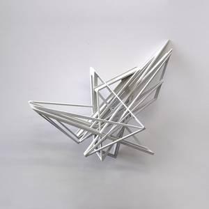 O20/07, Objekt, Holz, koloriert, 2020, 50x53x70 cm