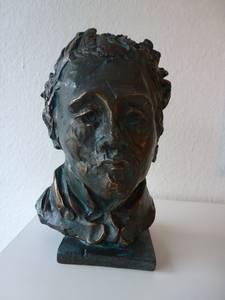 Christfried Präger, Porträt Georg Büchner, Bronze