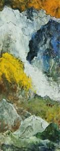 Morros II, Öl/Lwd., 2014, 100x40 cm