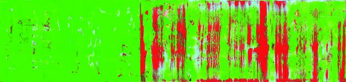 o.T., V2, Acryl/Lwd., 2012, 50x210 cm