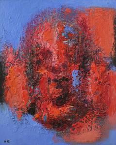 Roter Kopf, Öl/Lwd., 2001/2004, 100x80 cm
