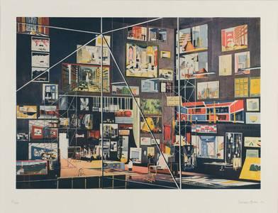 Thomas Huber, Das Kabinett der Bilder, Heliogravur/Aquatinta (mehrfarbig), 2009