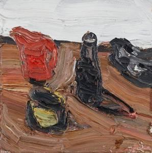 Stillleben, Öl/Leinwand, 2003, Format: 41 x 41 cm