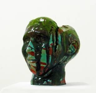 Stefan Wehmeier, Selbst, Keramik, glasiert, 2013/14