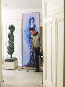 Armin Baumgarten im Atelier