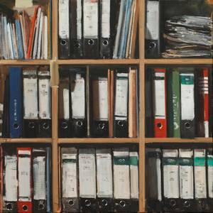 Büro, Öl/Lwd., 2014, 80x80 cm