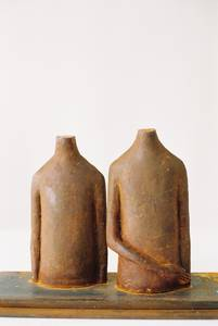 Anne Haring, Doppelfigur, Figur XL, Eisen (mit Plinthe), 2003
